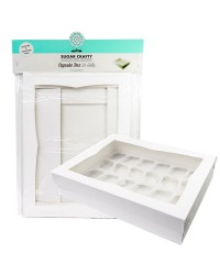 Cupcake box WHITE (holds 24) by Sugar Crafty