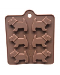 6 cavity Scottie or Westie dog silicone mould