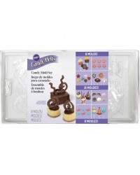Chocolate decorative mould 8 variety mould set by Wilton
