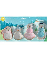 Snowmen family cookie cutters