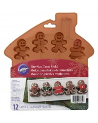 Gingerbread man silicone chocolate or bite sized treat mould deep fill
