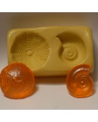 Small Nautilus and Sea Urchin seashells silicone mould for isomalt by Simi Cakes