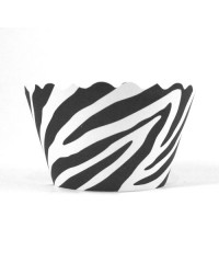 Cupcake wrappers Black and White Zebra MINI (50)