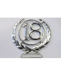 number wreath 18 Silver