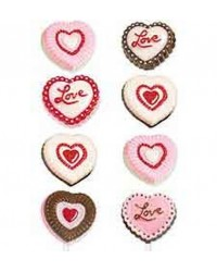 Heart lollipop chocolate mould by Wilton