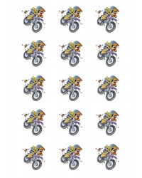Design Sheet edible image Motorcross dirt bike