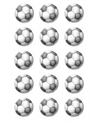 Design Sheet edible image Soccer ball balls