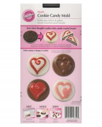 image: Hearts Cookie chocolate mould