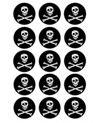 Cupcake edible images (15) Pirate Skull and Crossbones