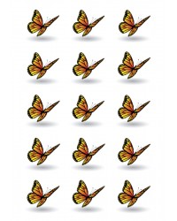 Design Sheet edible image Monarch Butterfly