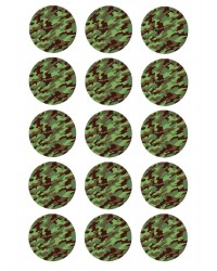 Cupcake edible images (15) Camouflage