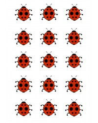 Design Sheet edible image Ladybug