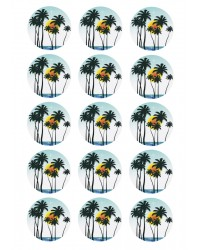 Cupcake edible images (15) Palm tree trees