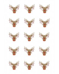 Design Sheet edible image Rudolph Reindeer and Candy Canes