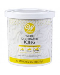 White Buttercream Icing Stiff Consistency 16 oz