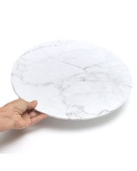 Marble Finish White Masonite Cake board 14 inch round No 2