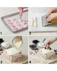 Easy Layers Square 6 Inch Cake Pan Set 5 Great For