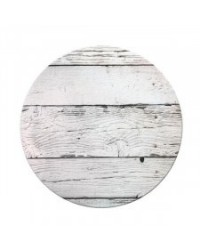 "image: White Planks (woodgrain) White Masonite Cake board 10"" round"