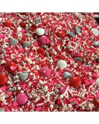 Sprinkle Medley Heart Throb (pink/white/red) 150g