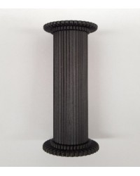 Black 3 inch pillars set 4