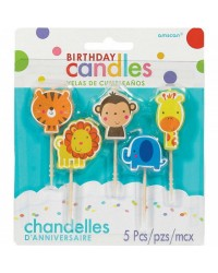 5 candle pick set Jungle or Zoo animals