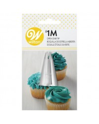 Large Wilton icing nozzle tip 1M drop star and cupcake swirls