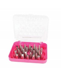 LVCC 26 pc Icing nozzle tip and brush set
