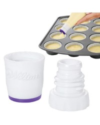 Perfect fill batter dispenser tip for cupcakes and more