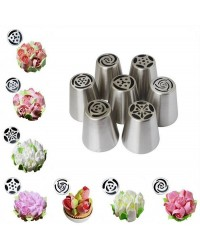Set 7 large flower icing tip nozzles Russian Style