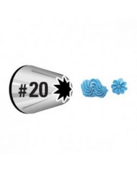 Standard Wilton icing nozzle tip No 20 Open Star
