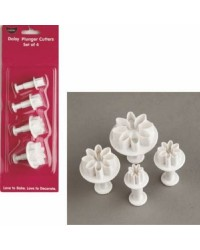 Set 4 Daisy Marguerite plunger ejector cutters