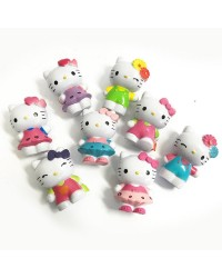 Hello Kitty set 8 plastic cake topper figurines