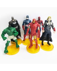 The Avengers Large plastic cake topper figurine set 6
