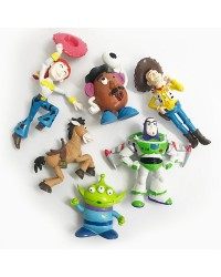 Toy Story set 6 cake topper plastic figurines