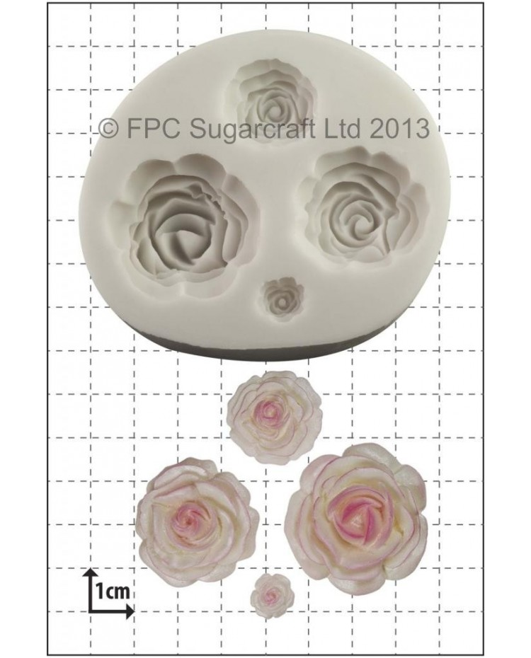 image: Rose - MULTI roses - silicone mould