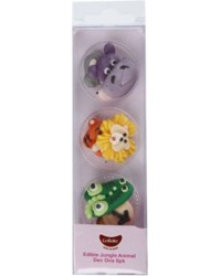 Jungle safari animal sugar icing decorations (6)