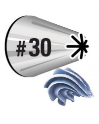 Standard Wilton icing nozzle tip 30 Closed Star