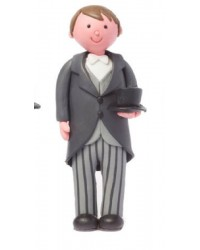 Claydough groom Brown hair Top Hat and Tails
