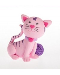 Cute Cat claydough cake topper figurine
