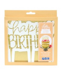 PME Cake topper cutter Happy Birthday Modern