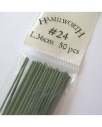 image: 24 gauge wire GREEN (pkt 50)