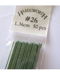 image: 26 gauge wire GREEN (pkt 50)