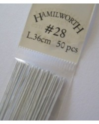 image: 28 gauge wire WHITE (pkt 50)