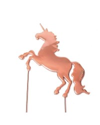 Rose Gold Metal unicorn cake topper