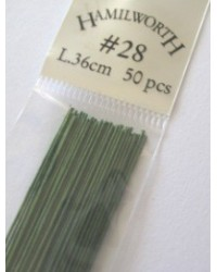 image: 28 gauge wire GREEN (pkt 50)