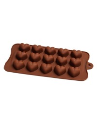 Shiny Heart Silicone Chocolate Mould