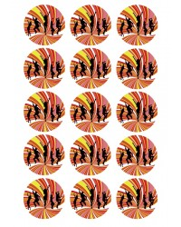 Design Sheet edible image Disco dancers