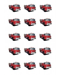 Design Sheet edible image Fire engine Fire truck Firetruck