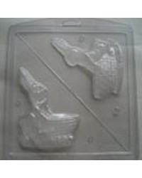 Easter Bunny with basket 3d chocolate mould