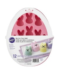 Easter Bunny head silicone mould for chocolates and mini treats